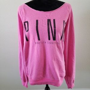 B2G1 Victoria's Secret Pink Raw Edge Pullover